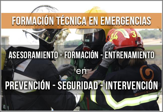 Formación práctica en emergencias impartida por profesionales